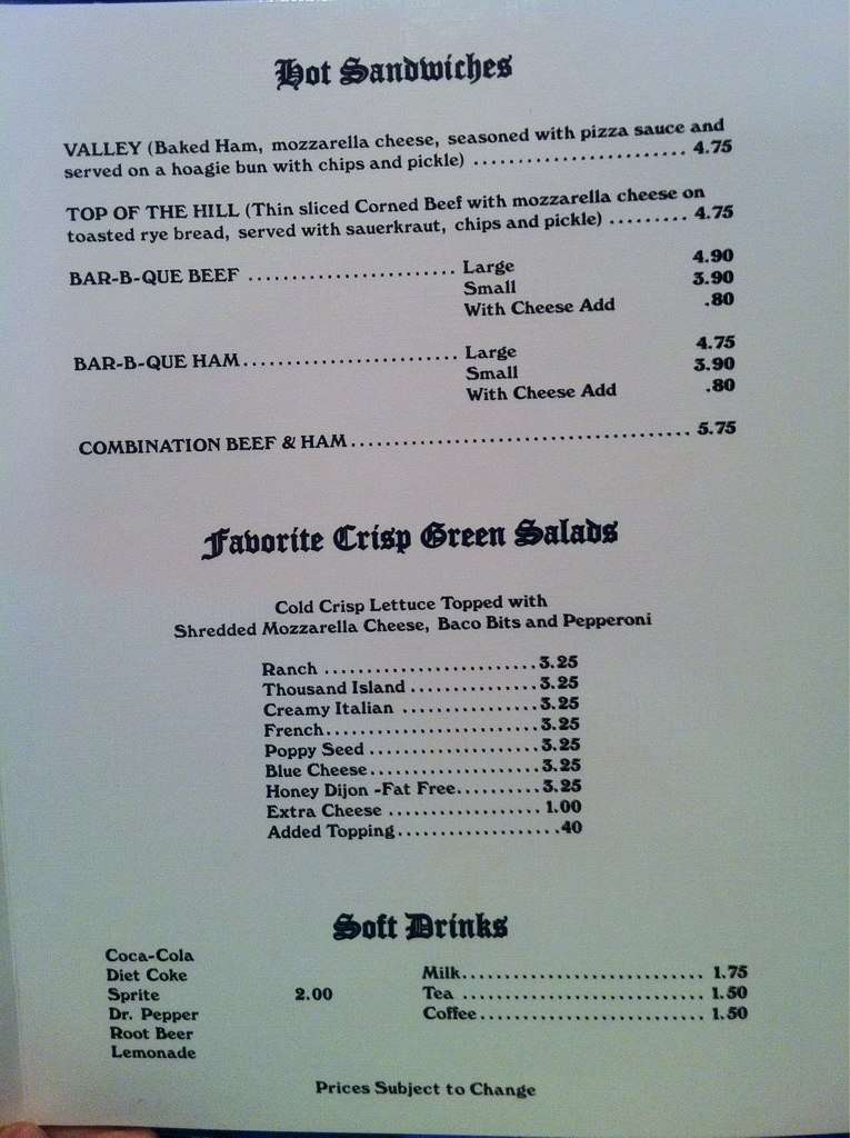 pizza glen menu 2